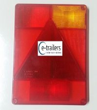 RIGHT Radex 6800 Replacement LENS Rear Trailer Lights Ifor Williams P6 Mk1